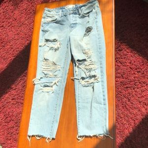 Garage Ripped Blue Jeans